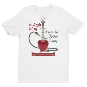 An apple a day keeps the doctor away G Men's Hookah T-shirt