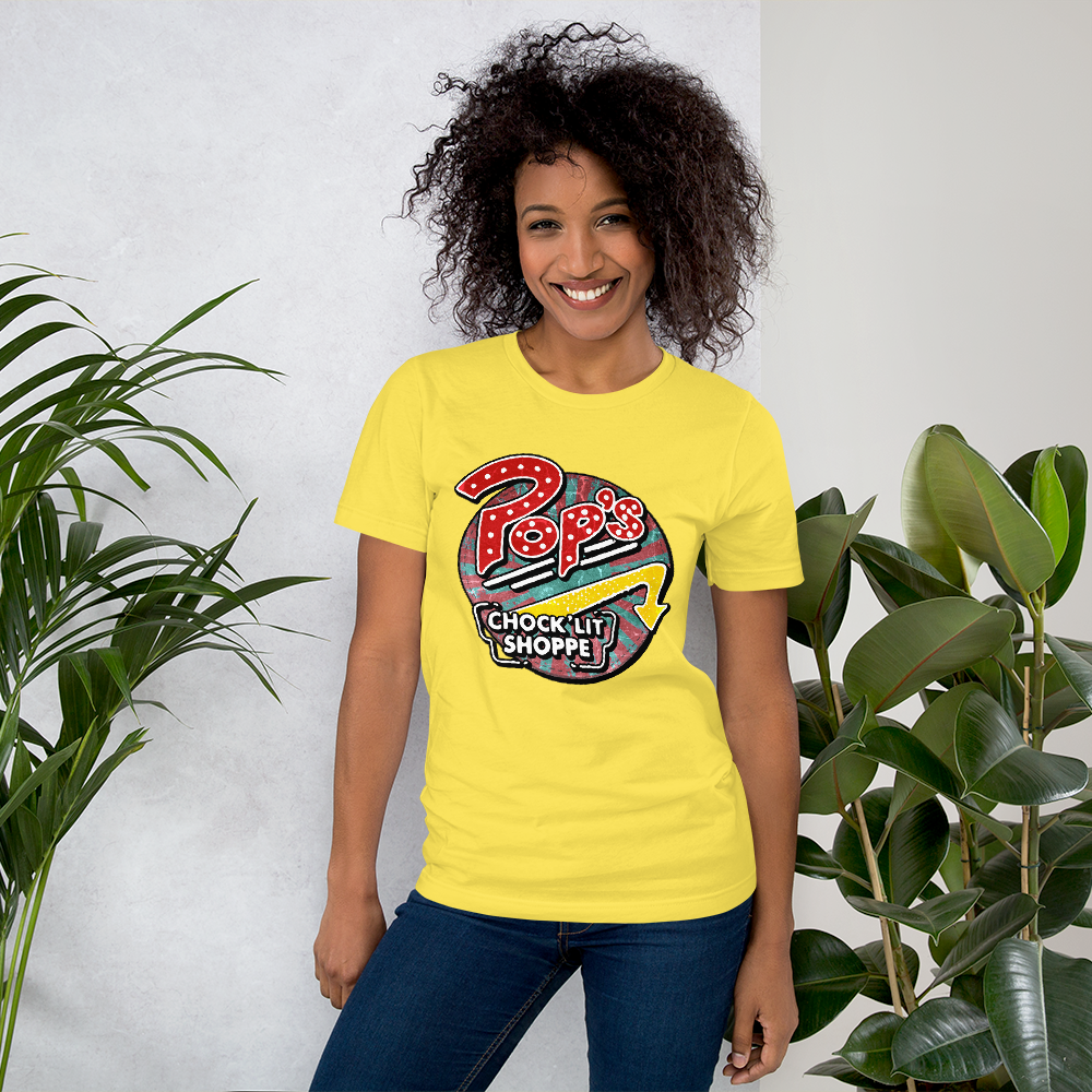 Pop's Chock'lit Shoppe Shirt Yellow women